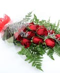 Dozen Red Roses-Wrapped