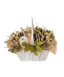 Vintage Farmhouse Silk Basket
