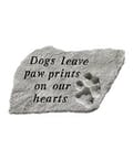 Stepping Stone: Dogs leave paw prints...