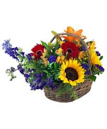Farmer's Market Flower Basket
