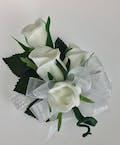 Silk Roses on Elastic