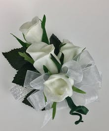 Silk Roses on Elastic