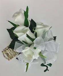 4 Silk Rose Jeweled