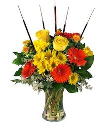 Louisville kentucky flowers and flower shop nanz and kraft florists harvest sun vase arrangement mightylinksfo