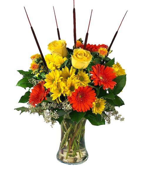 Harvest Sun Vase Arrangement