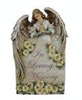 In Loving Memory Angel plaque
