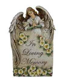 In Loving Memory Angel plaque