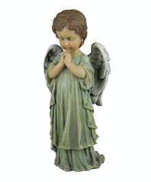 Praying Boy Angel ~ white