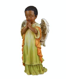 Praying Boy Angel ~ black