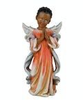 Praying Girl Angel ~ black