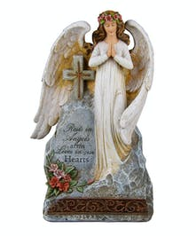 Rests in Angel Arms plaque