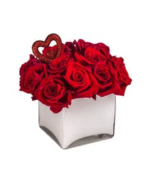 with 9 or 12 roses