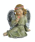 Sitting Angel with Flower