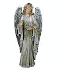 """Standing Angel Holding Birdnest"""
