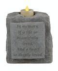 Stone Candle Holder: