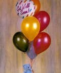 Get Well Soon Balloon Bouquet with Teddy Bear""