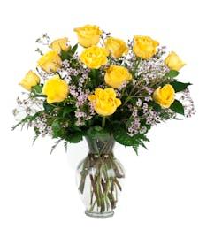 Classic Yellow Rose Dozen