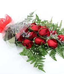 12 Wrapped Valentine's Roses