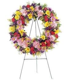 Mixed Bouquet Standing Wreath