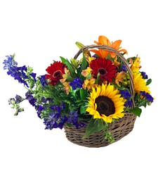 Farmer's Market Flower Basket