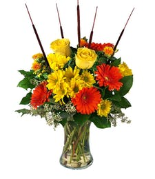 Harvest Sun Vase Arrangement