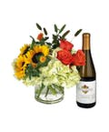 Flowers and Kendall Jackson Chardonnay