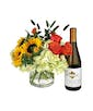 Flowers and Kendall Jackson Chardonnay