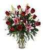 12 Roses & 3 Stems Lilies