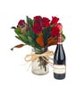 Flowers and Sonoma Pinot