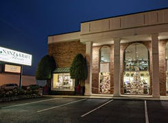 An exterior view of our Louisville location during twilight