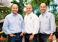 Our three-man management team, together in our greenhouse
